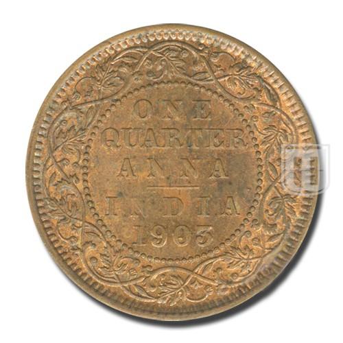 One Quarter Anna | KM# 501,PR.646 | R