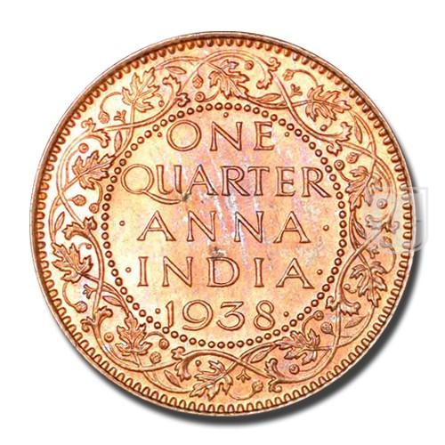 One Quarter Anna   KM# 530,PR.689   R