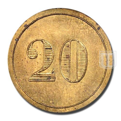 20 Centimes | KM Tn 3 | R