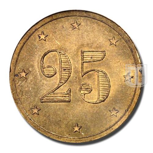 25 Centimes | KM Tn 4 | R